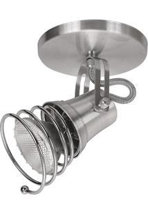 Spot De Sobrepor Em Alumínio Para 1 Lâmpada 60W 110V Lixado