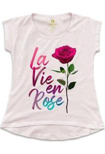Camiseta Feminina T-Shirt Cool Tees La Vie En Rose - Feminino-Rosa