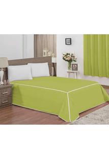 Colcha Casal Queen Veneza 03 Peças Tecido Rústico Granité - Verde