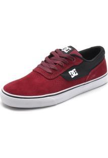 Tênis Couro Dc Shoes Plaza Tc Vermelho