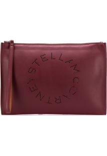 Stella Mccartney Clutch Com Logo - Vermelho