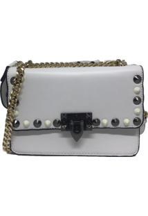 Bolsa Casual Transversal Alça Corrente Sys Fashion 8305 Branco