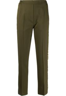 Etro Side Band Slim-Fit Trousers - Verde