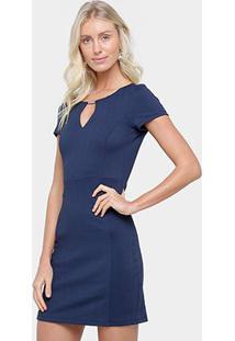 674dfcf6f Ir para a loja; Vestido Colcci Tubinho Curto Recorte - Feminino-Marinho
