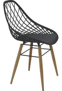 Cadeira Philo- Preta & Marrom- 82X63X55,5Cm- Tratramontina