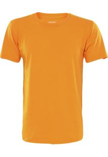 Camiseta Gajang Sem Costura Gola Careca Laranja