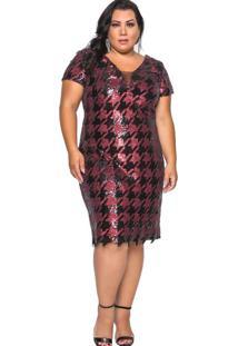 Vestido Almaria Plus Size Pianeta Roxo