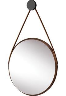 Espelho Escandinavo Em Couro Legítimo Líder Design