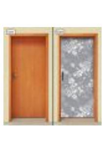 Adesivo Decorativo De Porta - Flores - 1427Cnpt
