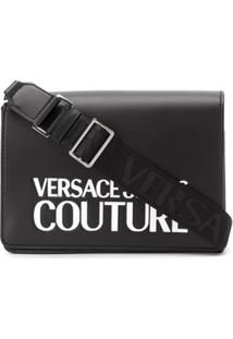 Versace Jeans Couture Bolsa Estruturada Com Estampa De Logo - Preto
