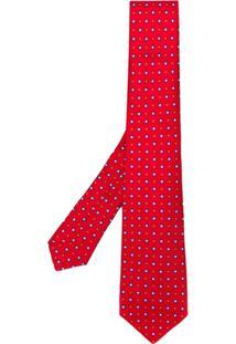 Kiton Gravata Estampada - Vermelho