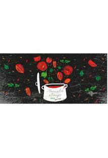 Tapete Transfer Tomato Soup- Preto & Vermelho- 90X40Tapetes Junior
