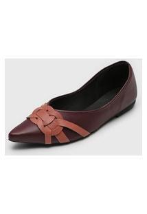 Sapatilha Dafiti Shoes Recortes Vinho/Rosa