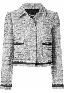 Paule Ka Jaqueta Cropped De Tweed - Branco