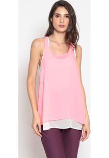 Blusa Com Fendas- Rosa Neon- Cotton Colors Extracotton Colors Extra