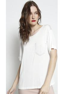 Camiseta Com Pespontos- Branca- Forumforum