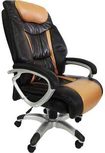 Cadeira Presidente Pel-9012 Giratória Marrom/Preto - Pelegrin