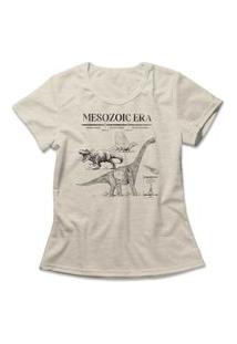 Camiseta Feminina Mesozoic Era Bege