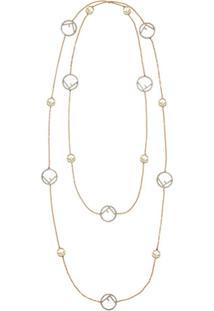 Fendi F Is Fendi Necklace - Dourado