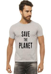 Camiseta Joss - Save The Planet 3 - Masculina - Masculino-Mescla