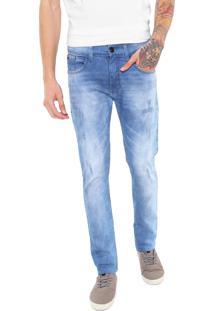 Calça Jeans Hd Slim Desgastes Azul