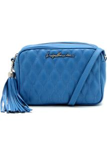 Bolsa Couro Luiza Barcelos Matelassê Azul
