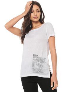 38eed50c7b34e Blusa Calvin Klein Estampada feminina   Shoelover