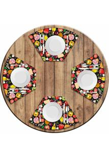 Jogo Americano Love Decor Para Mesa Redonda Wevans Premium Pizza Kit Com 4 Pã§S - Multicolorido - Dafiti