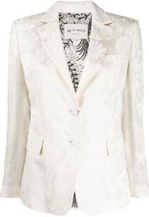 Etro Blazer Com Estampa Floral - Branco