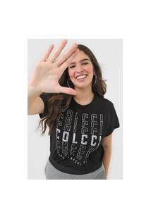 Camiseta Colcci Logo Preta