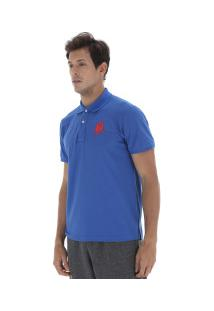 Camisa Polo Polo Us Us1 - Masculina - Azul/Vermelho