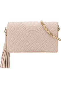 Tory Burch Quilted Shoulder Bag - Neutro