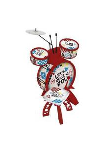 Bateria Musical Infantil Com Banquinho - Show - Toyng Toyng037619