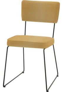 Cadeira Milan Mostarda Base Preta - 55888 - Sun House