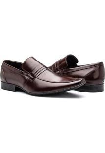 Sapato Social Couro Bigioni Nobuck Masculino - Masculino-Marrom