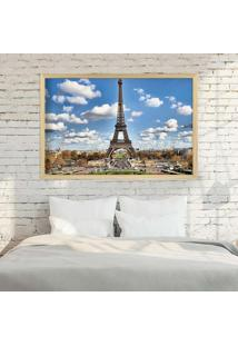Quadro Love Decor Com Moldura Magnifique Paris Madeira Clara Grande