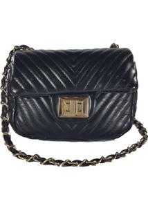 Bolsa Bag Dreams Costura Em V Pequena Preta