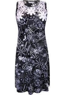Vestido Pau A Pique - Feminino-Preto