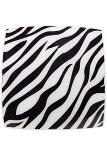 Plafon Sobrepor Quadrado Pequeno Zebra Preto Bivolt
