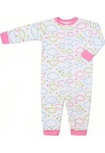 Pijama Feminino Macacão Soft Nuvens - Feminino