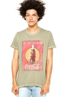 Camiseta Coca-Cola Jeans Flamê Verde