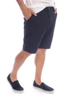 Bermuda Sarja Aleatory Flash Masculina - Masculino-Marinho