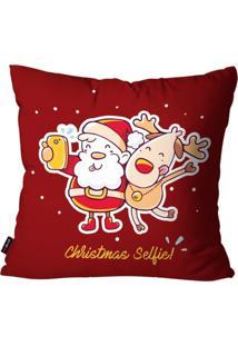 Capa De Almofada Pump Up Decorativa Avulsa Natalina Christmas Selfie 45X45Cm