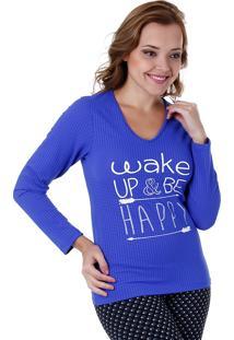 Camiseta Feminina Aiyra - Azul
