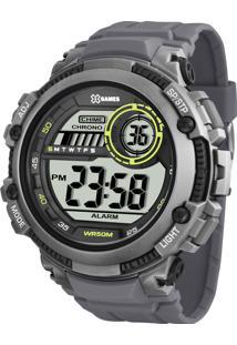 d6f3cef0e91 Eclock. Relógio Orient Clock Masculino Cinza Tamanho Grande Digital Casual  Fivela Xmppd521bxgx X-Games