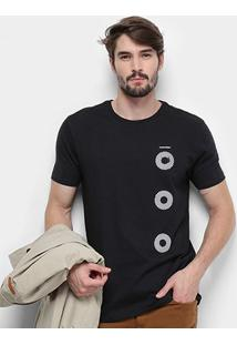 Camiseta Aleatory Círculos Masculina - Masculino-Preto