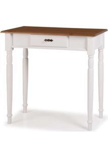 Aparador Mini Elegance Branco Com Imbuia Pes Torneados 80Cm (Larg) - 58814 - Sun House