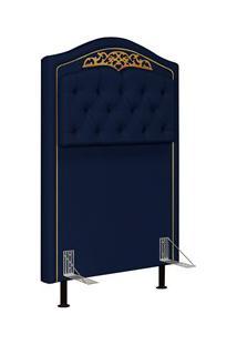 Cabeceira Cama Box Solteiro 90Cm Imperial J02 Suede Azul - Mpozenato