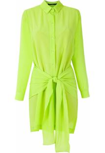 Eva Vestido Chemise De Seda - Verde