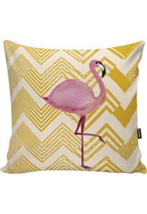 Capa Para Almofada Fauna- Amarela & Rosa Claro- 45X4Stm Home